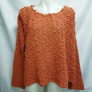 Free People Orange Oversized Chunky Sweater S M L